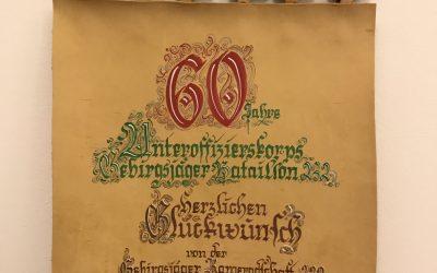60 Jahre Uffz-Korps GebJgBtl 232 und Rückkehrerappell in der Jägerkaserne