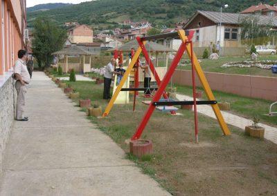 Gespendeter Spielplatz